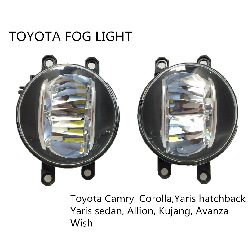 LED fog light 4inch round 20W for toyota Camry Corolla Yaris LED DRL fog light for Previa RAV4 car fog lamp 18 smd led license plate light bulb for toyota camry xv40 yaris xp10 echo prius nhw11 previa ipsum avensis verso