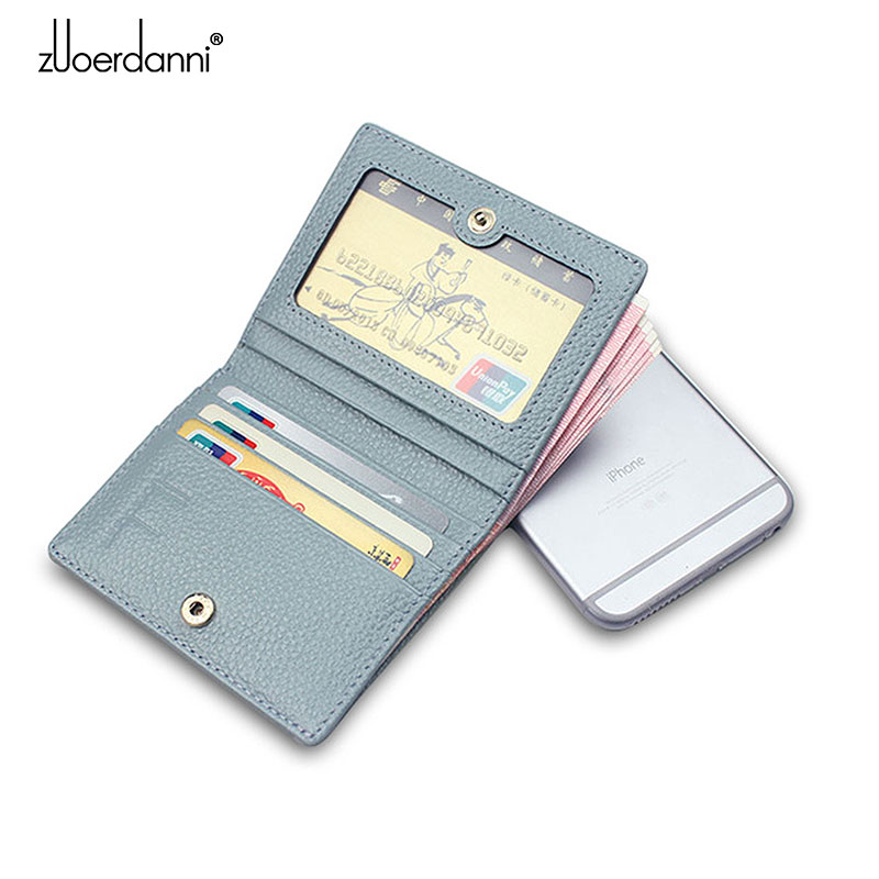 Cow Leather Hasp Mini Purse Women Soft Ultra-thin Wallets Lady's Short Purse Small Slim Style Fashion High Quality New