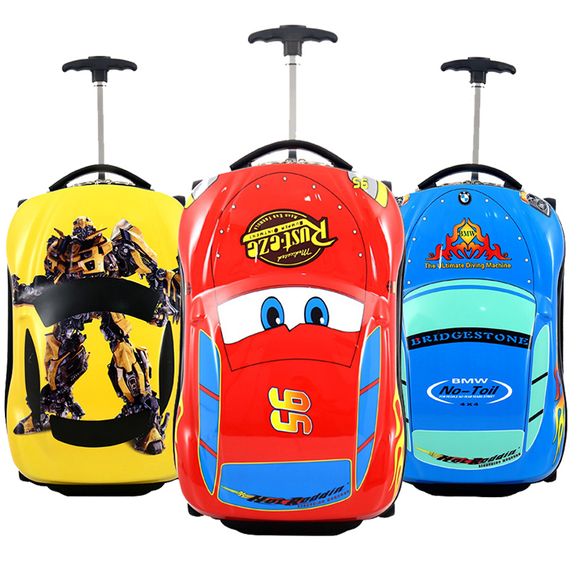 3D Car Kids Suitcase Set Travel Luggage Children Travel Trolley Suitcase For Boys Suitcase For Kids Rolling Luggage Suitcase