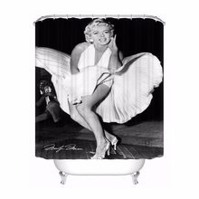 Custom Marilyn Monroe @04 Bathroom Acceptable Shower Curtain Polyester Fabric Bathroom Curtain #180320-01-145(China)