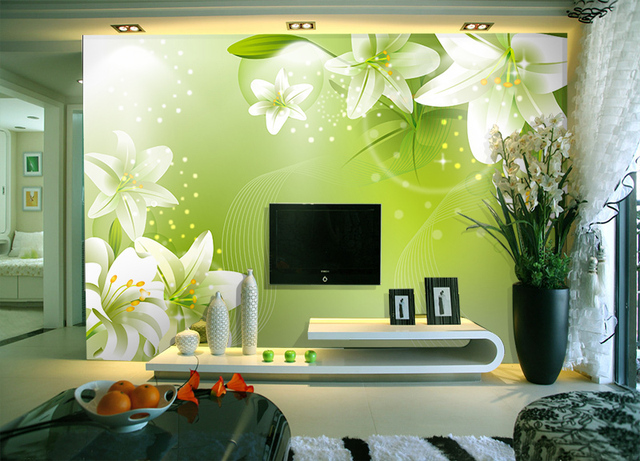 Modern Living Room Murals modern living room tv backdrop wallpaper painted wall murals 3d
