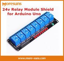 Fast Free Shipping 5pcs/lot 8 Channel relay module relay driver module MCU countrol board 24V Module Shield for Arduino Uno
