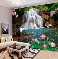 3D Шторы украшения дома водопад пейзажа Шторы для гостиной Фабрика Diret продажи