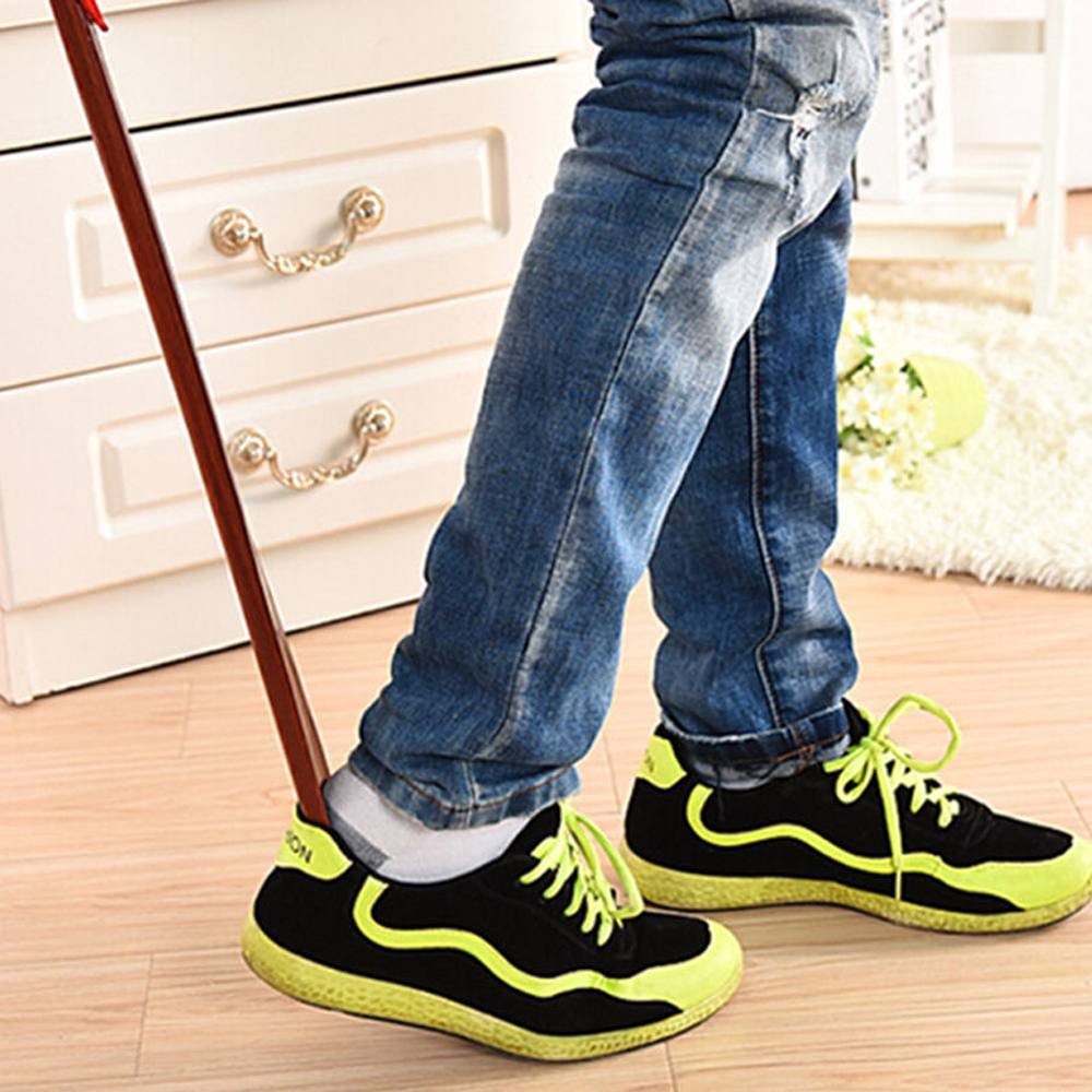 55cm 22.5cm Wooden Long Handle Shoe Horn Lifter Shoehorn Durable Shoes Guide  цены