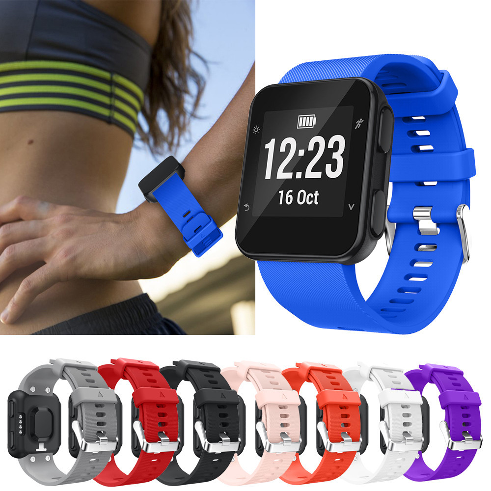 Wristband Watch band Wrist Silicagel Soft Band Strap Buckle Adjustable Replacement For Garmin Forerunner 35 Watch 230MM BTTF silicone watch band strap for garmin forerunner 910xt gps triathlon running swim cycle training sports watch with tools