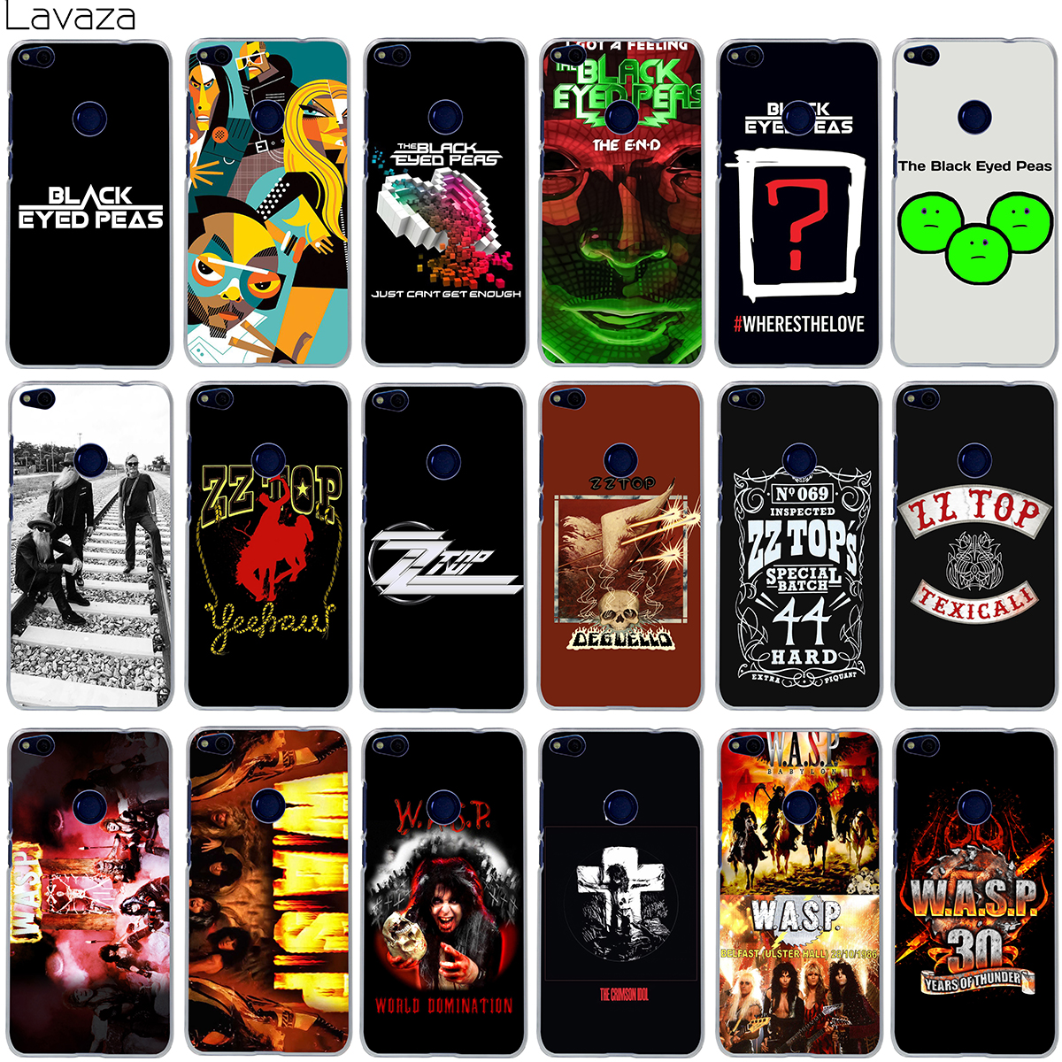 Lavaza The Black Eyed Peas ZZ Top W.A.S.P Band Case for Huawei Mate 10 P8 P9 P10 Lite Pro Mini 2017