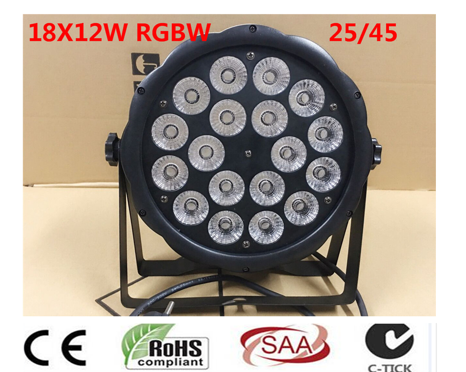 18x12 W RGBW 4in1 16 бит затемнение светодиодный lattine par Luce della фасе della Дискотека дель DJ di illuminazione DMX512 4/8CH