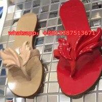 Hot Sale Women Sandals Flame Metallic Flat Thong Flip Flops Slipper Sandal Shoes Gold Wing Flats