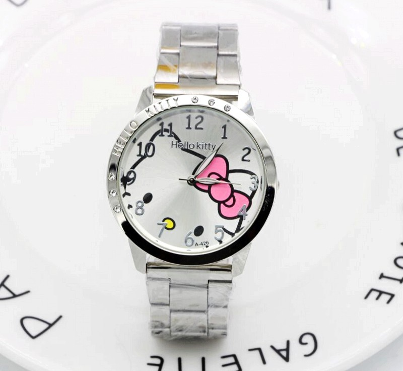 Hello Kitty Clock Women Dress Watch Hello Kitty Cartoon Watches Stainless Steel Watch Women Rhinestone Watches kids hello kitty clock women dress watch hello kitty cartoon watches stainless steel watch women rhinestone watches kids