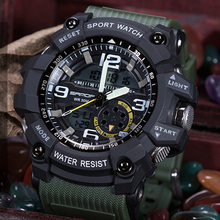 SANDA Brand S Shock Military Sport Watch Men Digital Quartz Watches LED Electronic Dual Display Wristwatches Relogio Masculino
