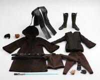Costume1/6 компл.. модель халат набор Анакин Скайуокер голова плащ с сапогами и легкое лезвие игрушка подходит 12 Мужской Рисунок модель тела
