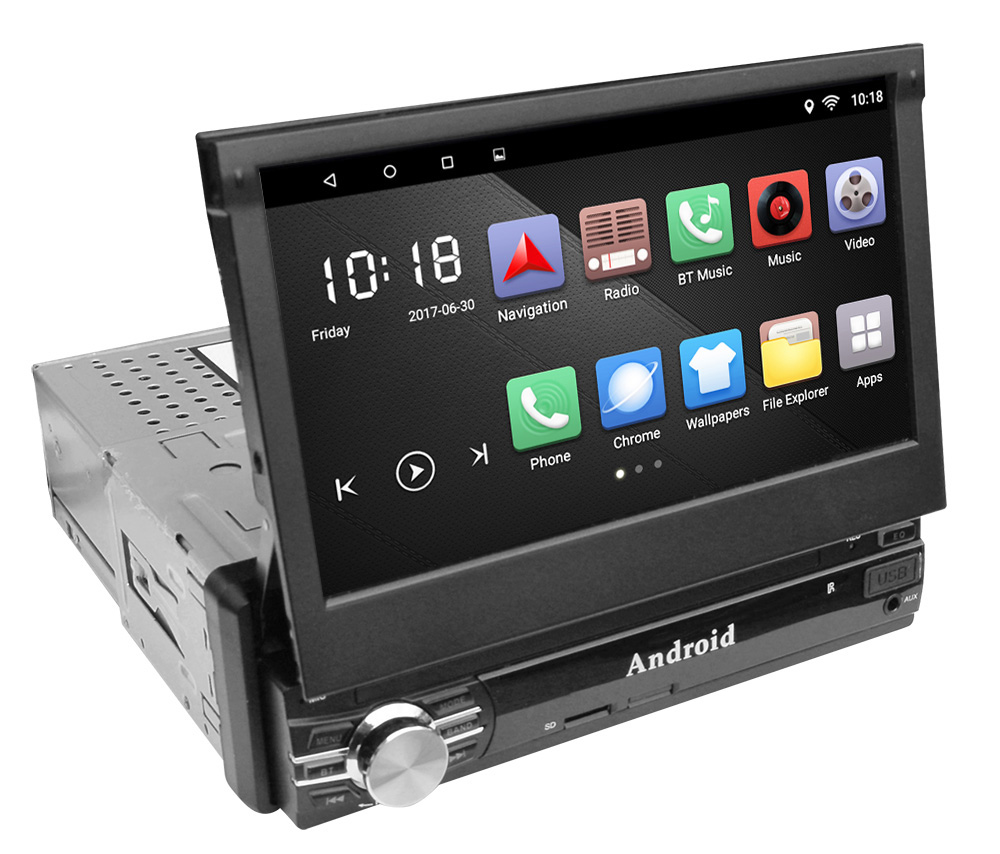 single 1 din android 6 0 quad core universal car dvd gps. Black Bedroom Furniture Sets. Home Design Ideas