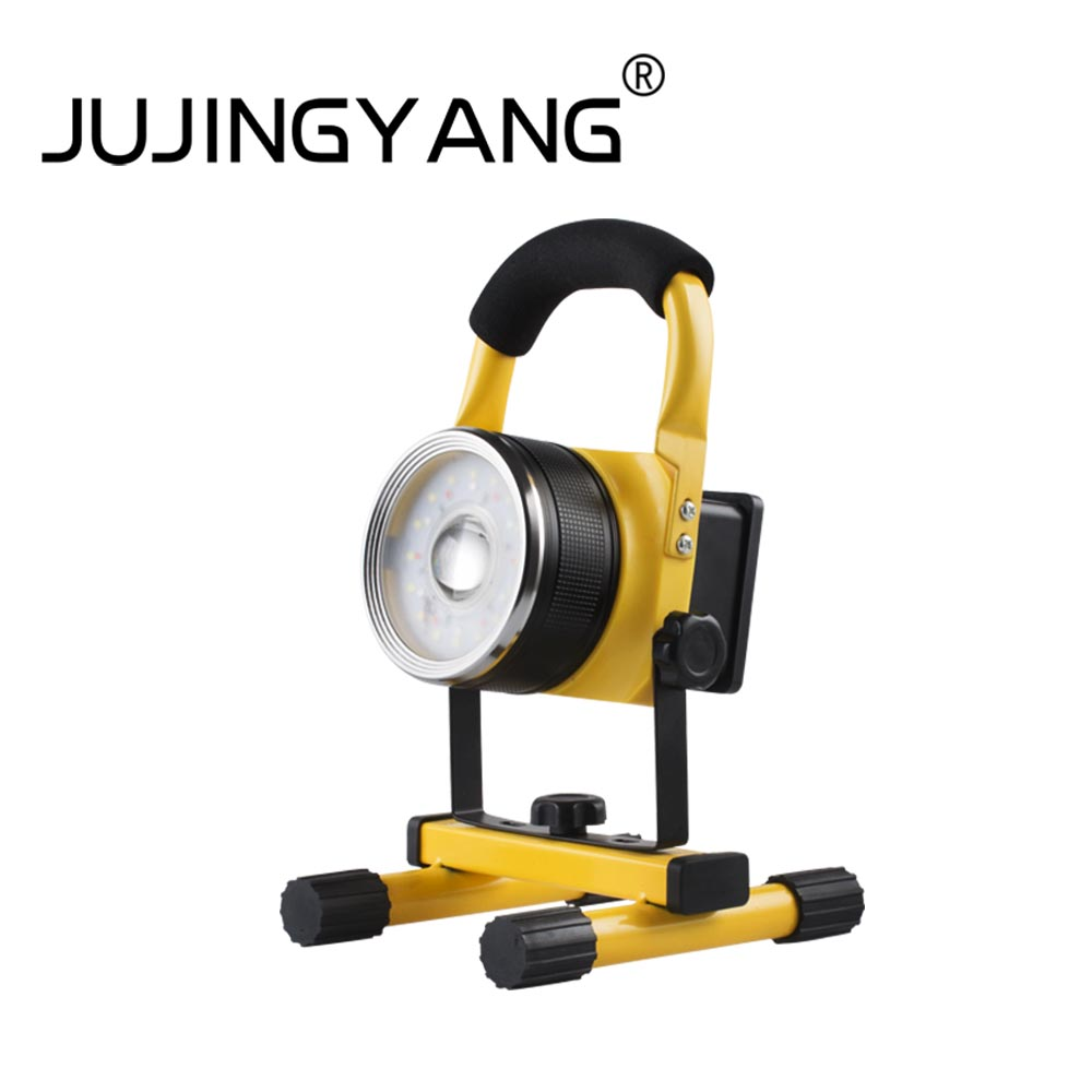 JUJINGYANG JY-312 T6 30W LED Floodlight Spotlight Rechargeable Searchlight Long Range Night Light Waterproof Portable portable flashlight torch light led rechargeable searchlight 30w long range bright spotlight for hunting and camp
