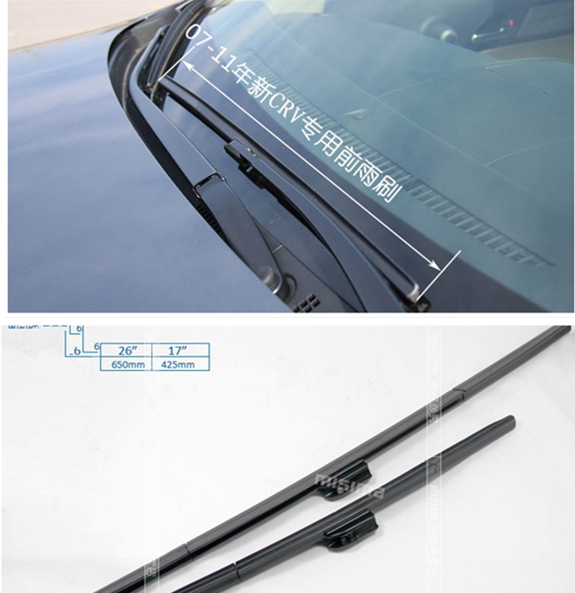 """Windscreen Replacement Price List >> 26""""+17"""" Soft Quality Rubber Windscreen Wipers Windshield Wiper Blade For Honda CRV CR V 2007 ..."""