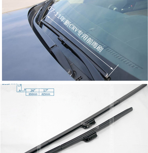 26 17 soft quality rubber windscreen wipers windshield wiper blade for honda crv