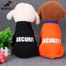 Onewellpet Brand High Quality Cotton T-shirt Of Two Colors With And English Word Security For Teddy Other Pet Dogs