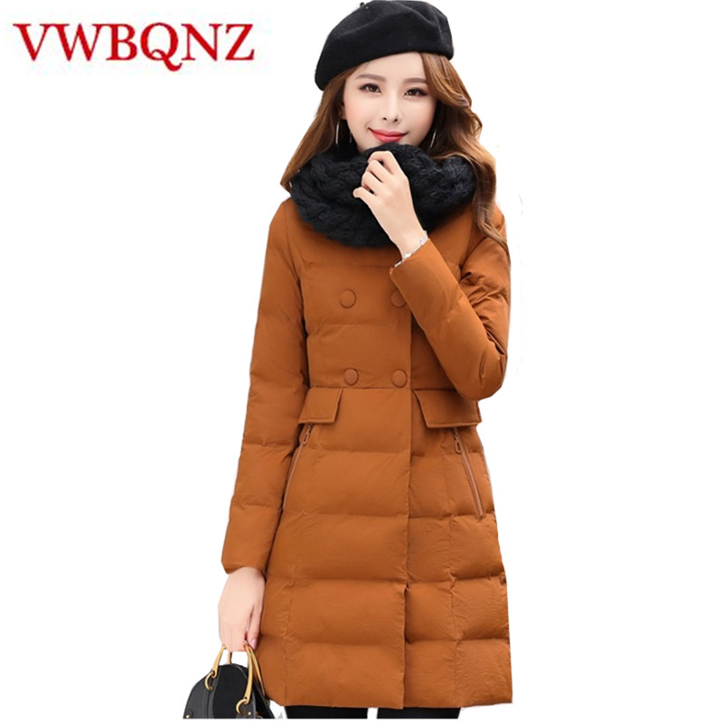 Mid-length Women Outerwear Warm Slim Winter   Parka   Ladies Jacket Solid Casual Down cotton Basic Jacket Fashion Women clothing