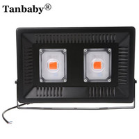Tanbaby 100W COB Led Grow Light Full Spectrum Outdoor Waterproof IP67 Growing Lamp Ultra Thin Grow Lights for Vegetables&Bloom