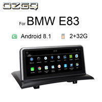OZGQ Android 8.1 System IPS Screen Car GPS Navigation Multimedia Radio PlayerFor 2004 2009 BMW X3 Series E83 With WIFi Bluetooth