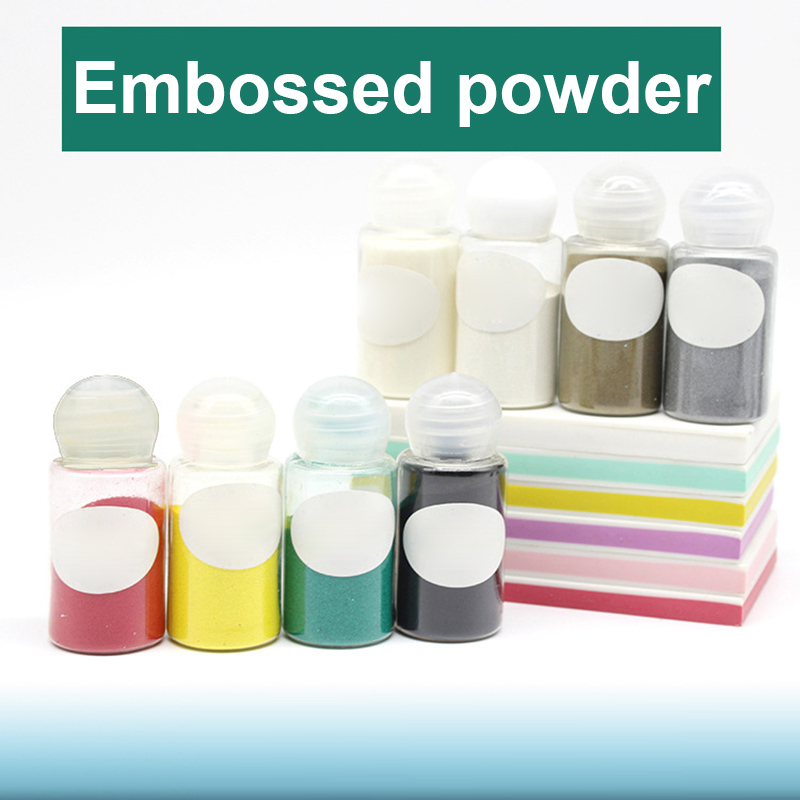 1 Pcs Embossed Powder Pigment 10ml DIY Embossing Stamping Scrapbooking Craft E2S
