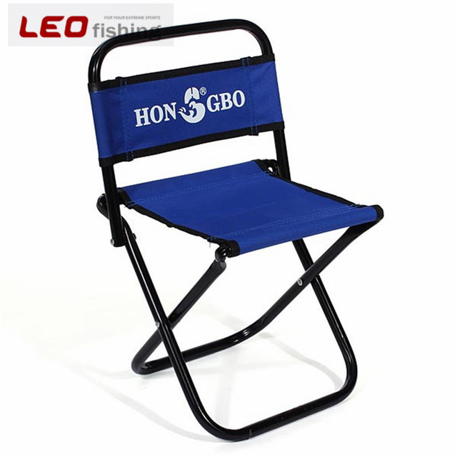 Fishing Chair Small Queen Anne Chairs For Sale Portable Folding Backrest Blue Stool Oxford Cloth Little Outdoor Tools
