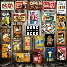 [ Mike86 ] Cold Beer here Tin sign Art  wall decoration House Cafe Bar Vintage Metal signs AA-32 Mix order 20*30 CM