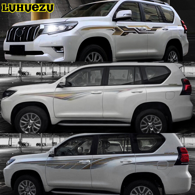 2018 oem car body sticker full body sticker for toyota land cruiser prado fj150 2018 accessories
