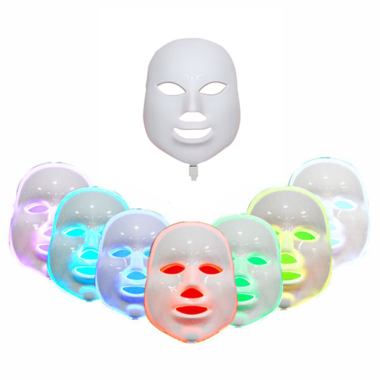 7 Colors LED Facial Mask Face Mask Machine Photon Therapy Light Skin Rejuvenation Acne Facial PDT Skin Care Beauty Mask 1 set professional face care diy homemade fruit vegetable crystal collagen powder facial mask maker machine skin whitening