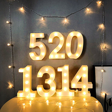 Luminous LED  Digital Night Light Creative 0~9 Number Battery Powered Lamp Romantic Wedding Party Decoration Christmas