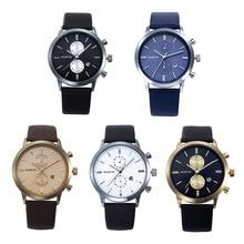 FHD 2017 1 UNID Fashion relojes de Los Hombres Militares de Cuero Ocasional Impermeable Fecha Japón Reloj Del Regalo envío gratis