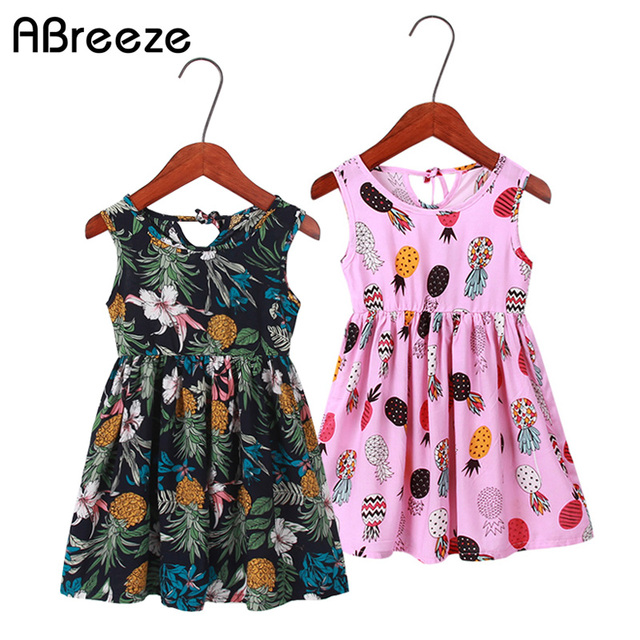 c26d7dba7c8c Abreeze Summer girls clothes fruit floral print dresses for girls 2T ...