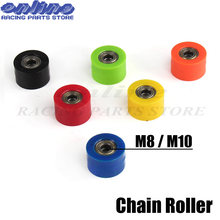 Motorcycle Motorbike 8mm or 10mm Chain Roller Tensioner Pulley wheel guide for XR CR CRF 125 250 450 Pit Pro Dirt Bike Motocross