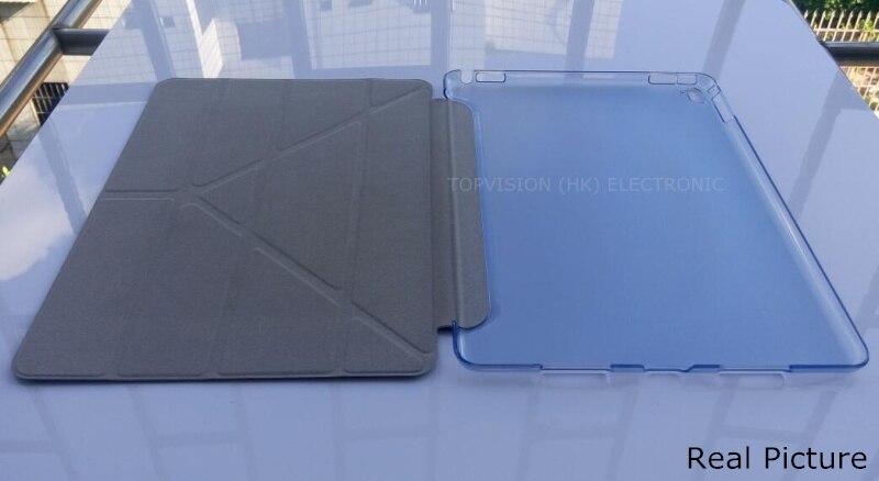 Lep trd in prilagodljiv tpu silikonski mehki hrbtni usnjeni pametni - Dodatki za tablične računalnike - Fotografija 4
