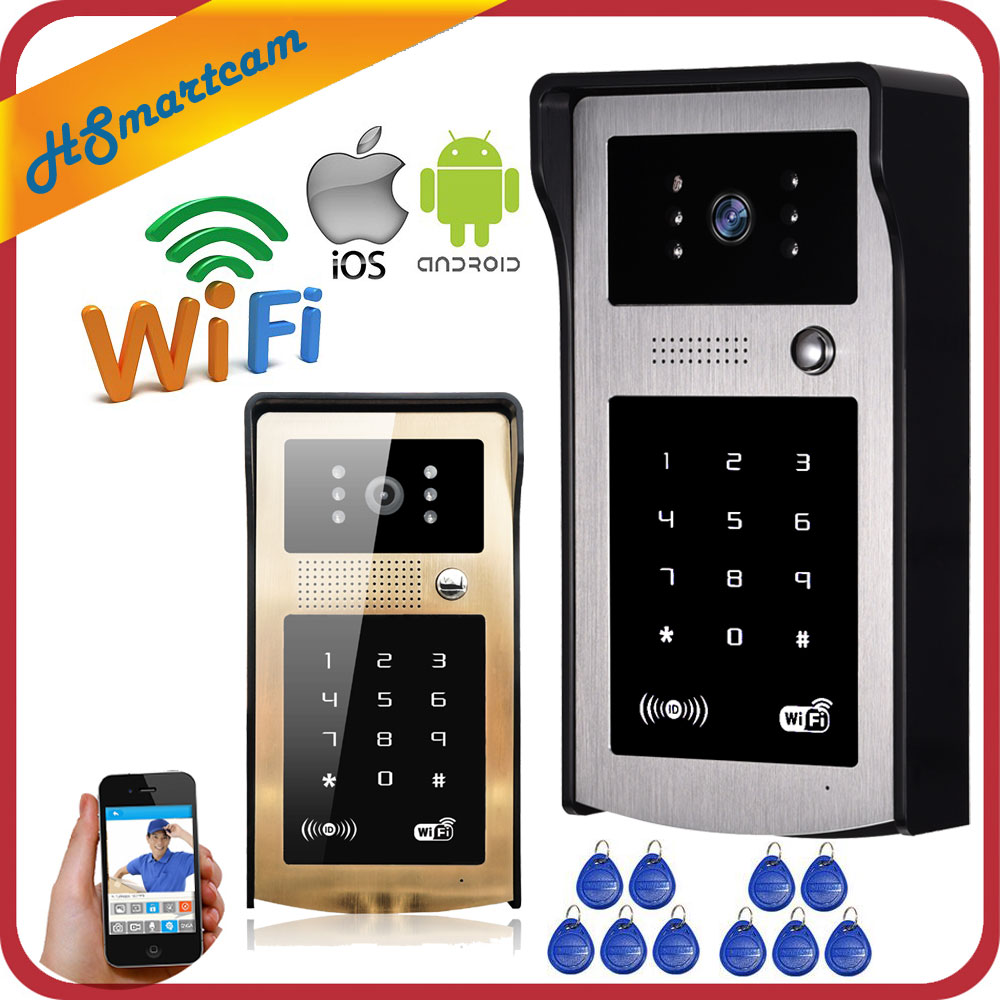 New Wireless IP Doorbell With 720P 3G / 4G Camera Video Phone WIFI Door bell RFID Code Keypad HD IR Cameras for IOS Android 8PCS new hd wireless 3g 4g wifi ir waterproof doorbell doorphone iphone android mobile video door phone intercom system code keypad