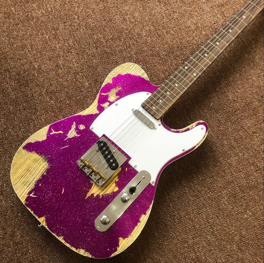 Custom shop, Классическая TELE 6 Строки палисандр гриф гитары, telecaster gitaar реликвии руками электрогитара ra