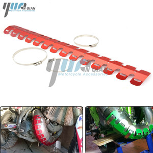 Image 5 - Yuanqian 범용 오토바이 배기 머플러 파이프 다리 보호대 열 방패 커버 bmw f650gs f800gs g650gs g65 r6 r3 r6