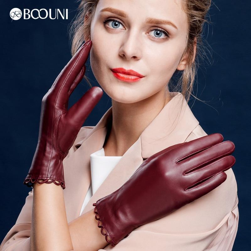 BOOUNI Rukavice z pravé kůže Módní trendy Dámské rukavice z - Příslušenství pro oděvy