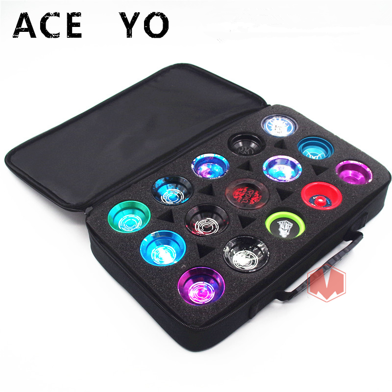2018  New Arrive ACE YO YOYO Bag  15 Holes Yo-yo Admission Package  Professional Yoyo Collectors Bag  Yoyo Bag Accessories