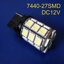 High quality 12V 5W T20 7440 Car Tail Lights,W21W DRL Led Rear Fog Lamp Bulb,Reverse lights Turn Signal free shpping 50pcs/lot