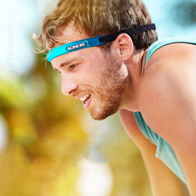 Aonijie E4088 Hair Band Sports Sweat Guide Band Yoga Unisex Adjustable Head Belt Multi-functional Running 2