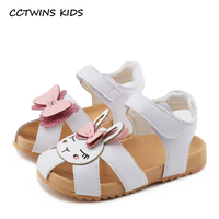 CCTWINS KIDS 2018 Summer Toddler Pu Leather Bow Sandals Children Fashion Soft Flat Baby Girl Brand