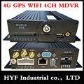 4G MDVR coaxial video recorder MDVR GPS carga del coche/tren/nave equipos WiFi MDVR 4CH Monitor host DVR móvil