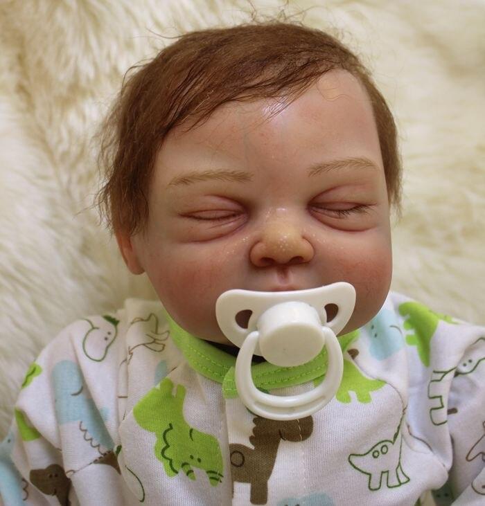 """20 """"Реал спальный возрождается младенцы куклы силикона новорожденного exquistite высокое качество лучший детский подарок любовника bonecas возроёдается"""