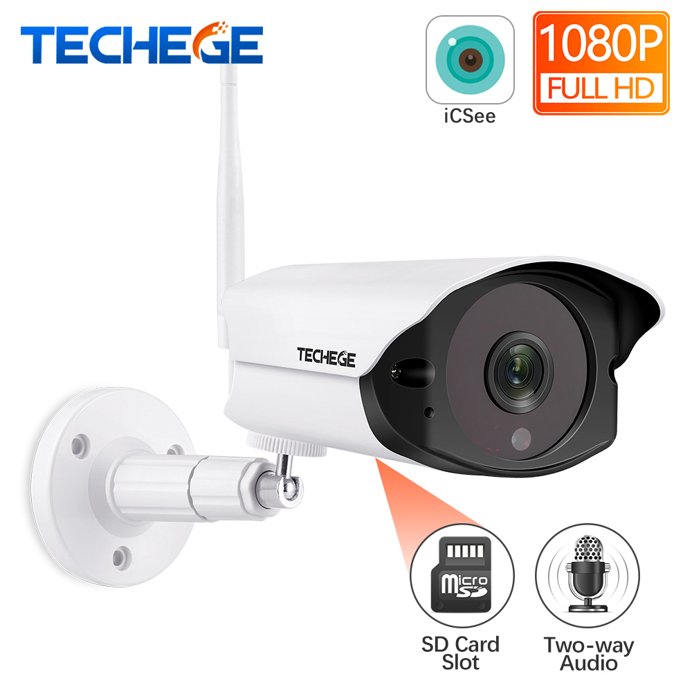 Techege 1080P HD Wifi IP camera Outdoor indoor 2MP Wireless Wired Security Camera Motion Detection Intercom TF card slotTechege 1080P HD Wifi IP camera Outdoor indoor 2MP Wireless Wired Security Camera Motion Detection Intercom TF card slot
