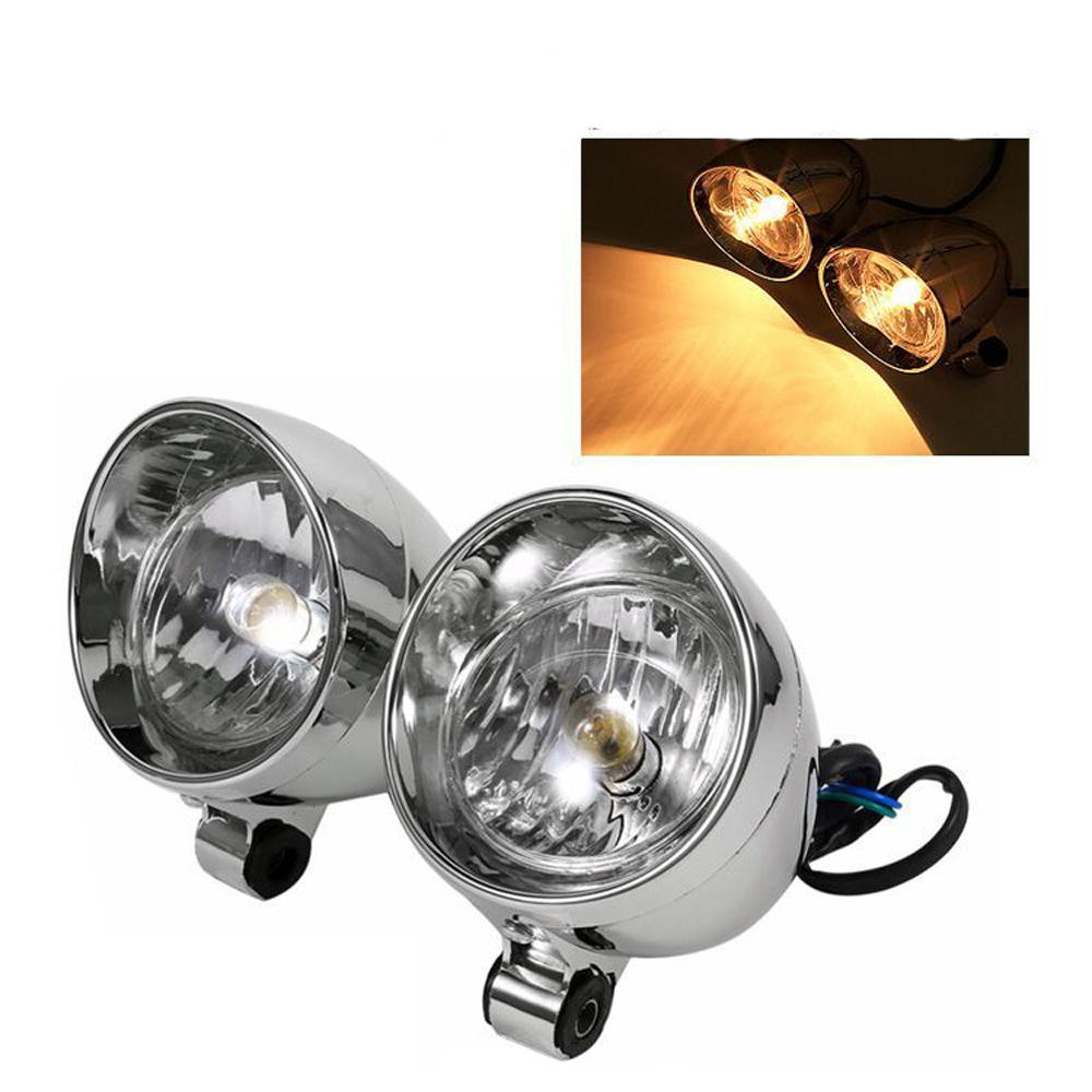 2pcs Universal Dc 12v 4 Inch Chrome Custom Bullet Motorcycle Spot Lamp Front Headlight Fog Light For Harley Yamaha Buy At The Price Of 7 79 In Aliexpress Com Imall Com