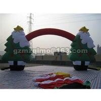 Бесплатная доставка рекламы для украшения праздника надувные Арка надувные Рождество арки