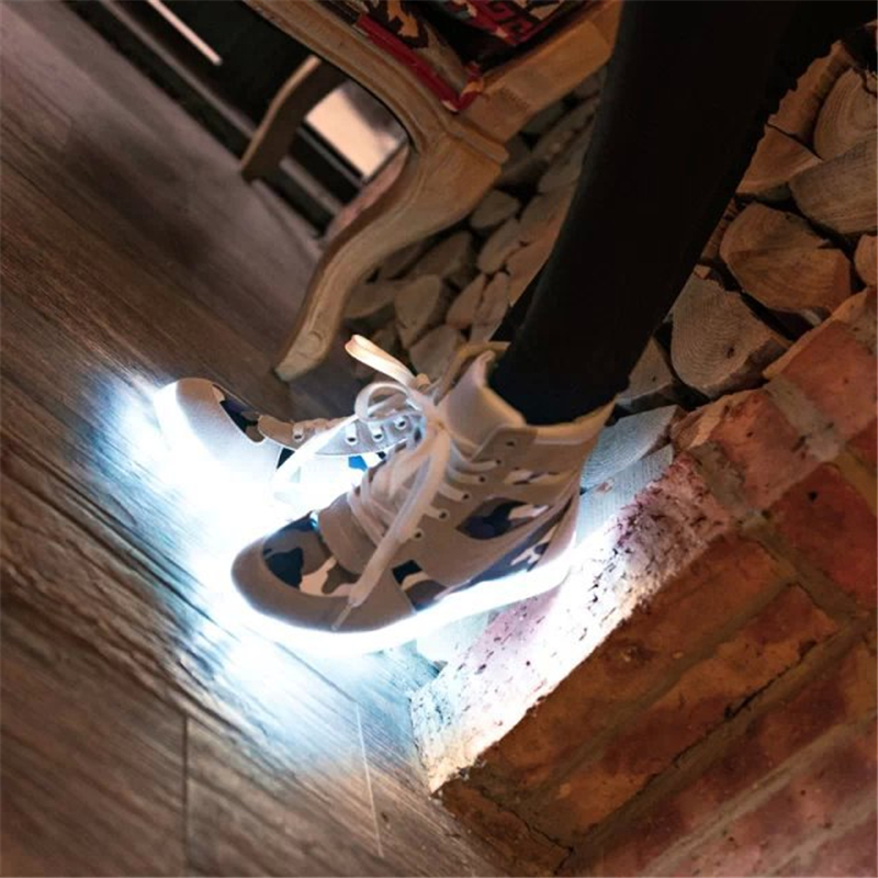 aliexpresscom buy 8 colors luminous shoes led usb charging light up sneakers basket led basket femme led lights for shoes sole basket homme from reliable - Basket Femme Color