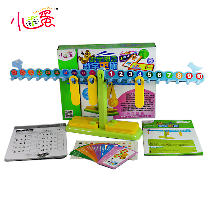 Candice guo plastic toy balance game digital concept number math card match game baby intelligence educational birthday gift set image