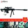 Papel do Enigma 3D Modelo barrett m82 Barrett M82 Sniper Rifle Armas DIY 1:1 do Ofício de Papel Toy Cosplay Props Presente Das Crianças