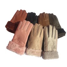 Women gloves Winter Leather Gloves White 2019 Warm Mittens driving guantes mujer luvas de inverno N36